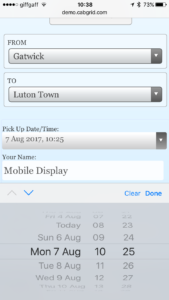 mobile date time picker