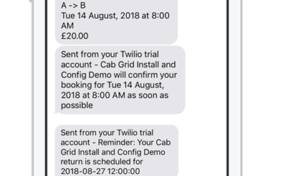SMS Text Messaging with Twilio in Cab Grid Pro v5+