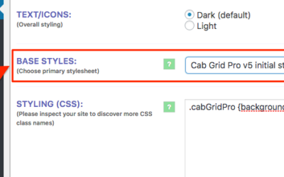 Pre-defined stylesheets in Cab Grid Pro v5