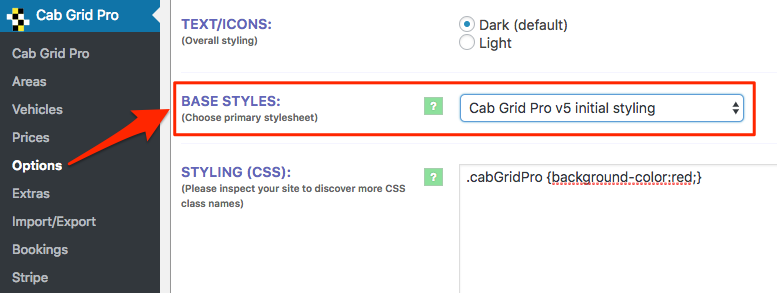 Using Pre-defined Styles in CabGrid Pro