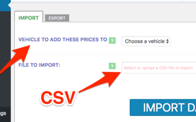 Import & Export Fare Price and Destination Data to Cab Grid Pro